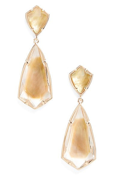 Carey Stone Drop Earring