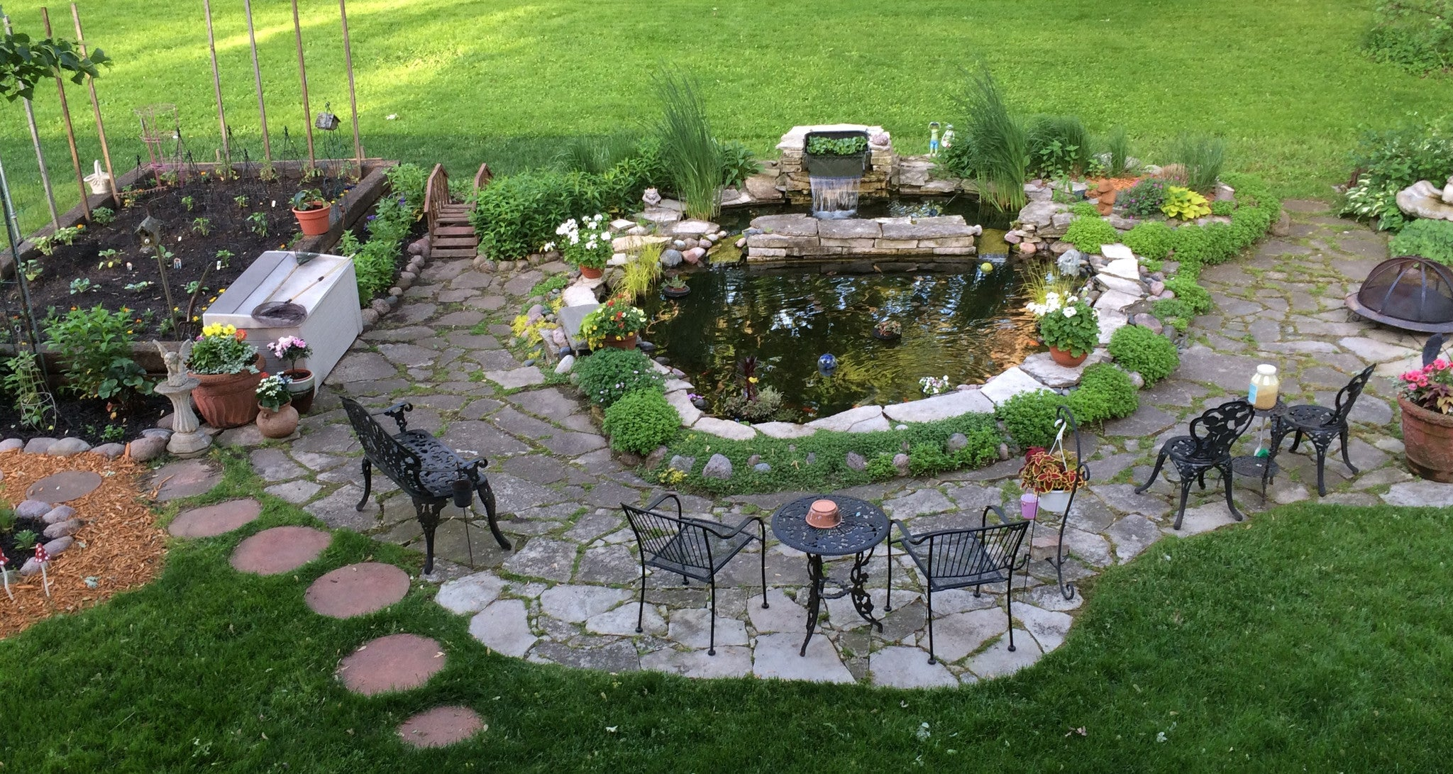 Building a backyard pond for Building a backyard pond