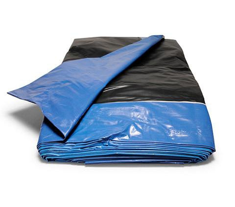 8' x 50' - Reused Vinyl Tarp (Black)