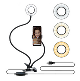 Selfie Stick Ring Light and Cellphone Holder For Selfies, Making Videos, Streaming Videos and Influencers