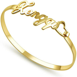 Sterling Silver 925 Private Custom Letter Bangle