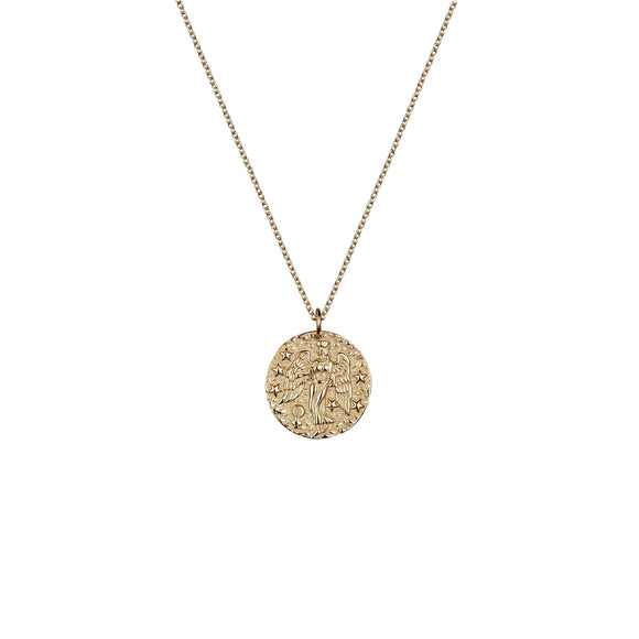 Virgo rose gold necklace