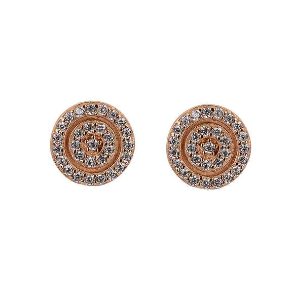 Alique double crystal rose gold earrings