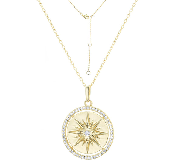 LUCIA COMPASS GOLD NECKLACE