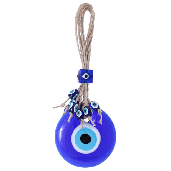 Hanging glass evil eye amulet