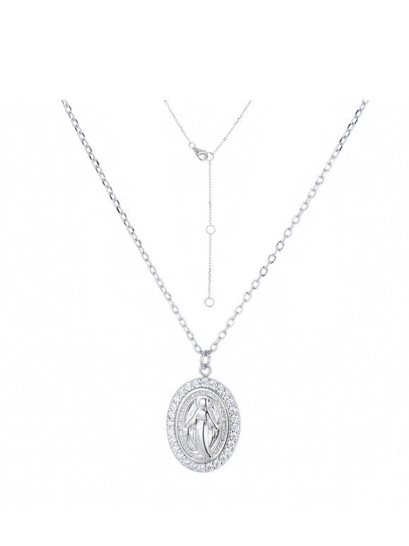 MARY CRYSTAL SILVER NECKLACE