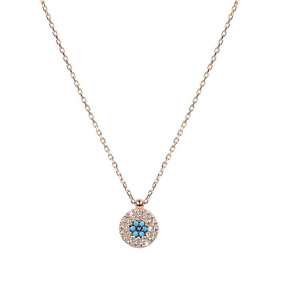 ALEKI EVIL EYE GOLD NECKLACE