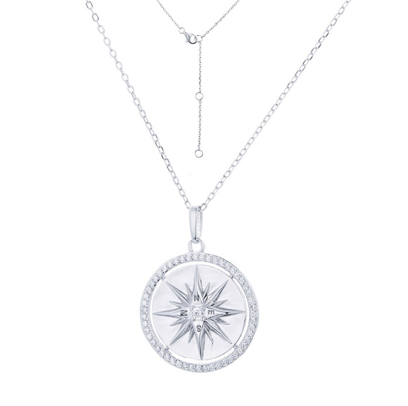 LUCIA COMPASS SILVER NECKLACE