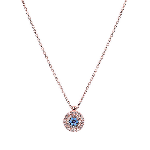 ALEKI EVIL EYE ROSE GOLD NECKLACE