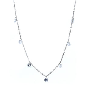 mini dangling crystal necklace