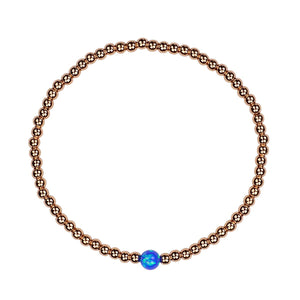 Opalite ball beaded rose gold bracelet