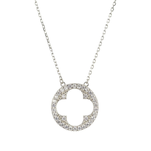 Cut out clover necklace