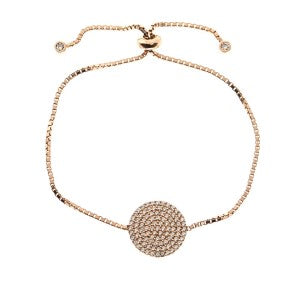Disc adjustable bracelet