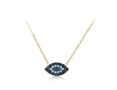 MICHELLE MINI EVIL EYE NECKLACE