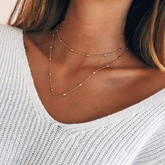 ERIKA DOUBLE CHAIN NECKLACE