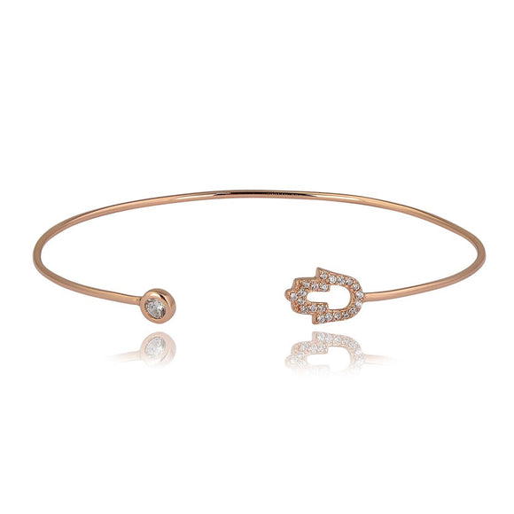 rose gold hamsa bangle