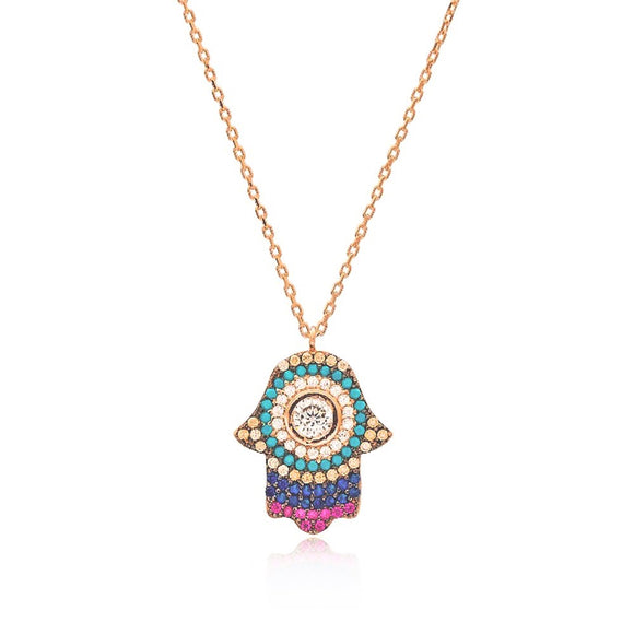 GYPSY HAMSA NECKLACE