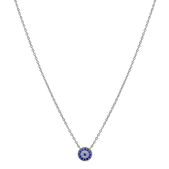 Mini evil eye silver necklace