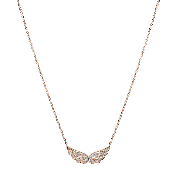 angel wings gold necklace