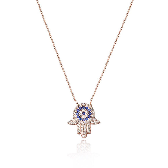 evil eye and hamsa necklace