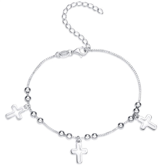 ROSARY CROSS BRACELET