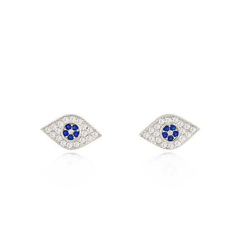 BLUE EYES EVIL EYE EARRINGS