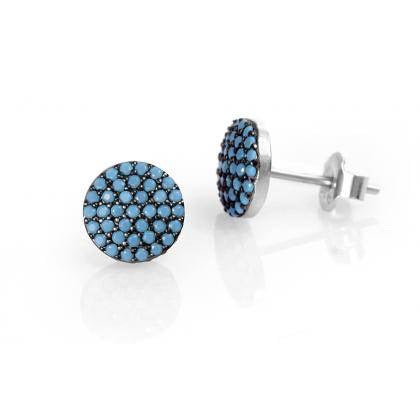 Turquoise ear studs