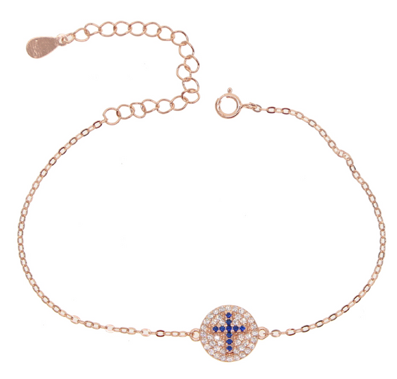 BLUE CROSS ROSE GOLD BRACELET