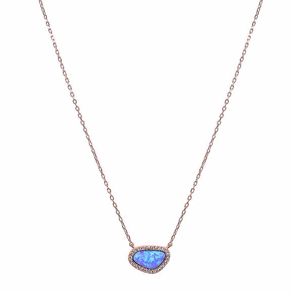 LYLA OPAL ROSE GOLD NECKLACE