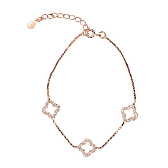 ALICE THREE CLOVER ROSE GOLD BRACELET