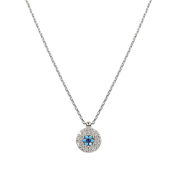 aleki turquoise evil eye silver necklace
