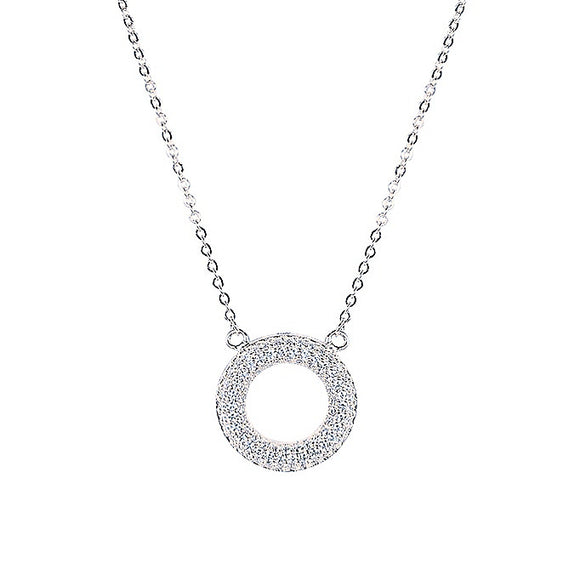 ALIQUE ROUND STERLING SILVER NECKLACE