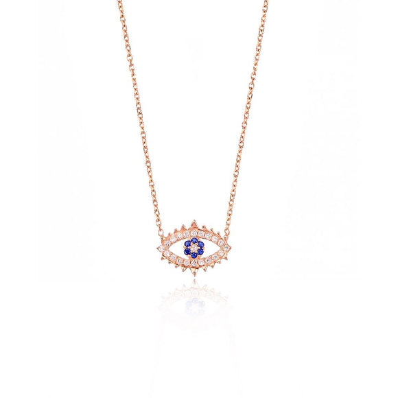 ADELINE EVIL EYE STERLING SILVER NECKLACE
