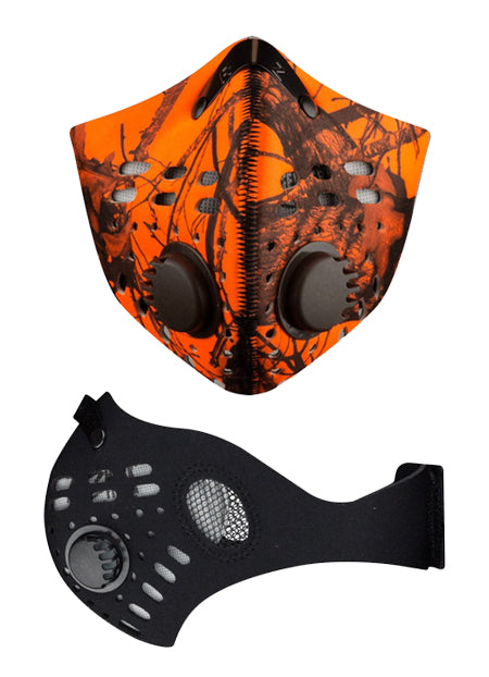 M1 Mask Front in Mossy Oak Blaze Orange and Side in Black