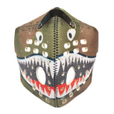 RZ M1 Neoprene P40 shark tooth mask shell on white background front view