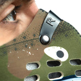 Adjustable metal nose clip on P40 shark tooth RZ M1 Neoprene mask shell