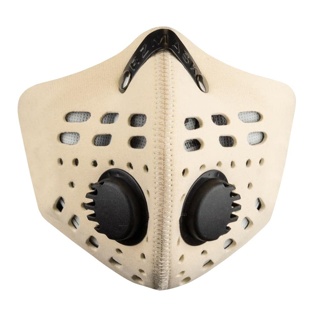 RZ M1 Neoprene tan face mask on white background front view