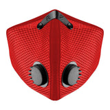 RZ M2 Mesh red face mask on white background front view