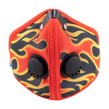RZ M2 Nylon flame face mask on white background front view