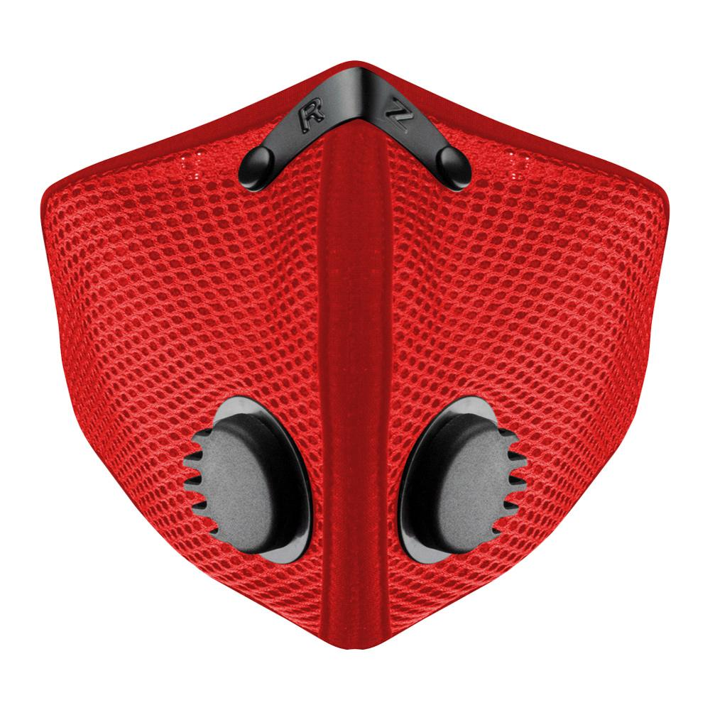 RZ M2.5 Mesh red face mask on white background front view