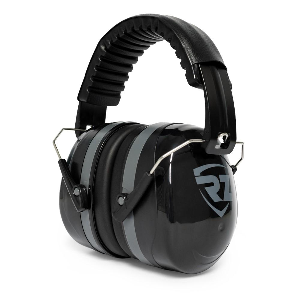 RZ noise reduction earmuffs black on white background