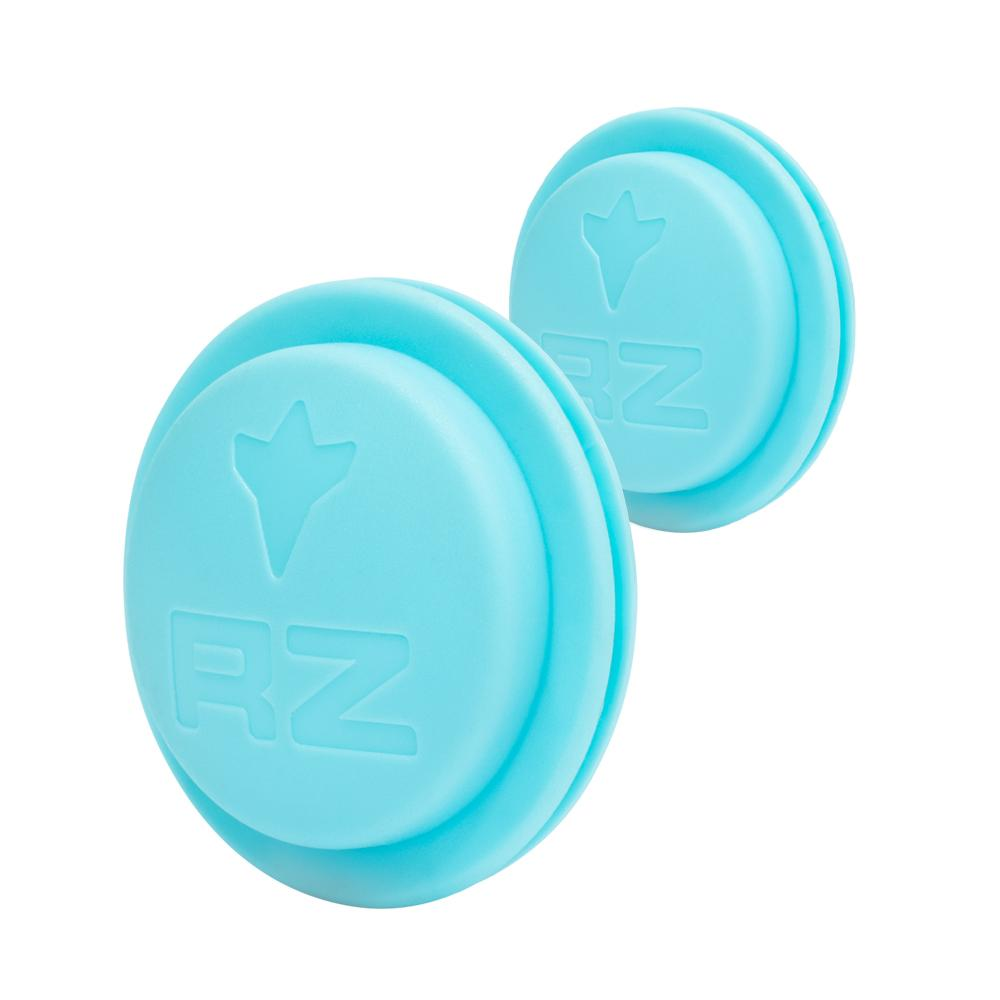 RZ exhalation valve cap teal on white background