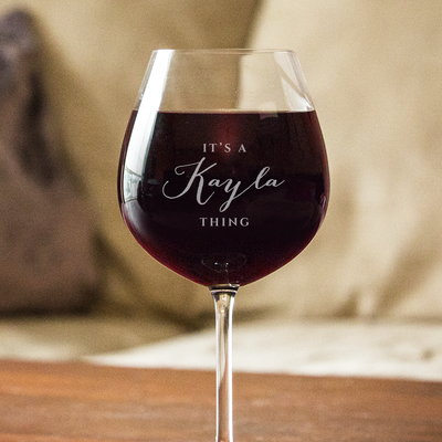 "Personalized It's A ""YOU"" Thing Wine Glass"