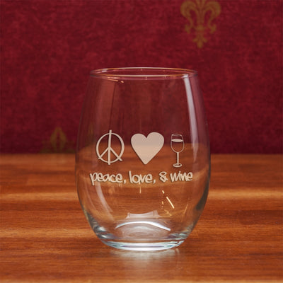 Peace, Love & Wine Stemless