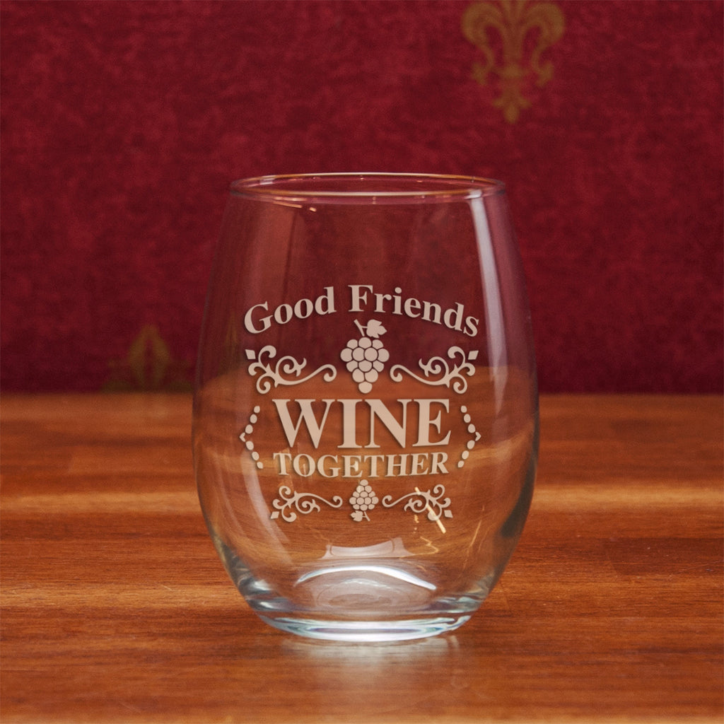 Good Friends Wine Together Stemless