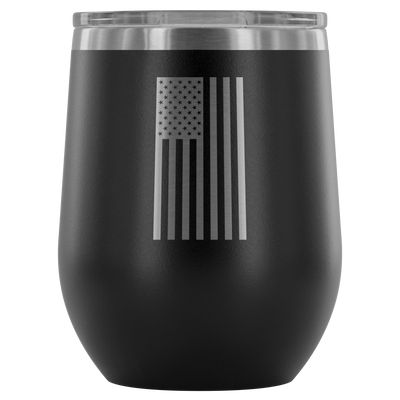 USA Flag Vertical Wine Tumbler