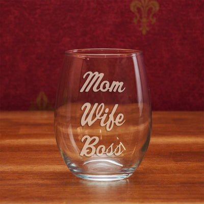 Mom Wife Boss Stemless