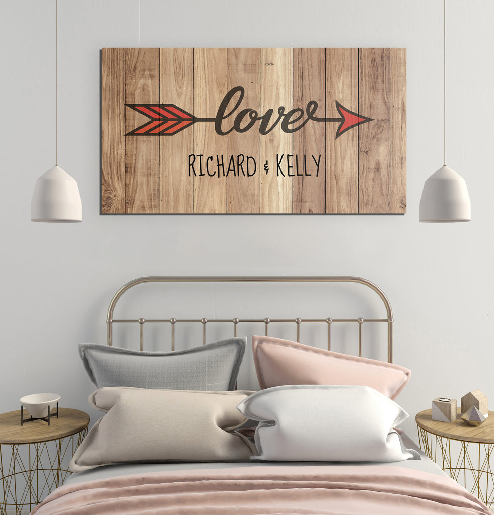 Personalized Love Arrow Canvas