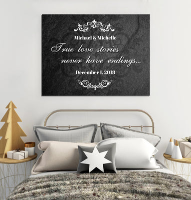 Personalized True Love Stories Canvas