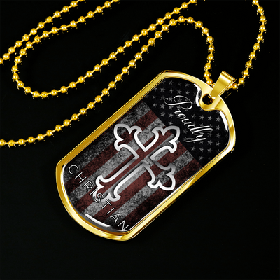 Proudly Christian Dog Tag